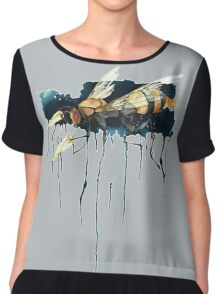 Bee With Drills Chiffon Top