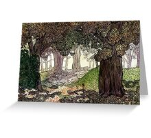 Secret Forest Watercolor Greeting Card