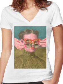 TRIFOCALS T-shirt femme moulant col V