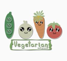 Vegetarian and proud! Kids Clothes