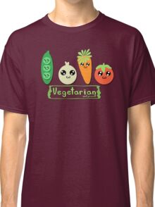 Vegetarian and proud! Classic T-Shirt