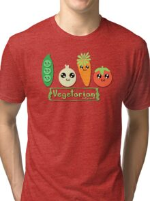 Vegetarian and proud! Tri-blend T-Shirt