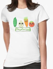 Vegetarian and proud! Womens Fitted T-Shirt