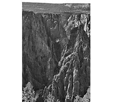 Black Canyon of the Gunnison 2 BW  Photographic Print
