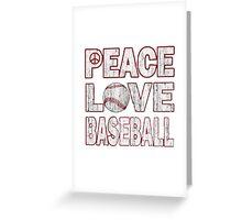 Peace Love Baseball - Baseball Shirts Greeting Card