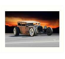 Rat Rod 'Rustomania' 2 Art Print
