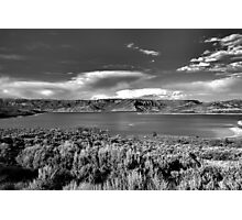 Blue Mesa Reservoir West End 1 BW Photographic Print