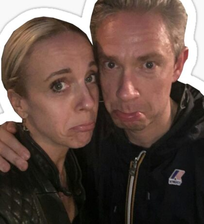 Martin Freeman and Amanda Abbington Sticker