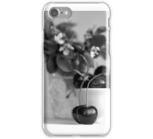Still life with cherries iPhone Case/Skin