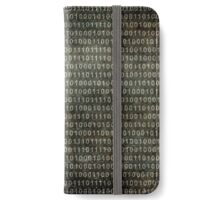 Binary Code - Distressed textured version iPhone Wallet/Case/Skin