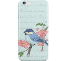 Blue Chickadee iPhone Case/Skin