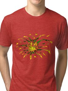 Low Poly Firework Tri-blend T-Shirt