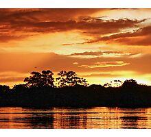 Boat ride sunset in Lake Tarapoto, Amazonas (Colombia) Photographic Print