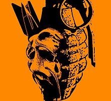 Face Hand Grenade by sastrod8