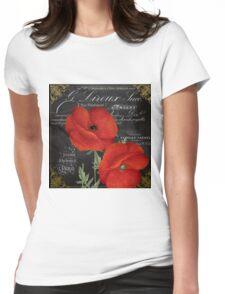 Fleur du Jour Poppy Womens Fitted T-Shirt
