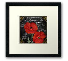 Fleur du Jour Poppy Framed Print
