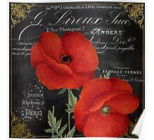 Fleur du Jour Poppy Poster