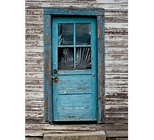 Rustic Blue Door, New Denver B.C. Photographic Print