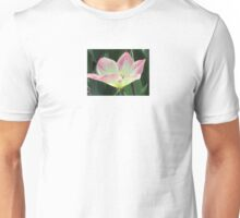 Pink and yellow tulip Unisex T-Shirt