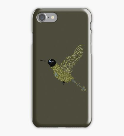 Abstract Hummingbird iPhone Case/Skin