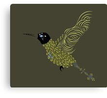 Abstract Hummingbird Canvas Print