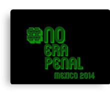 #NoEraPenal - No era penal Canvas Print