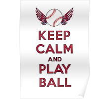 Keep Calm and Play Ball - Los Angeles  Poster
