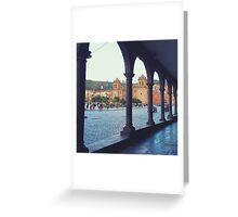Plaza de Armas Arches Greeting Card