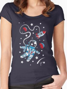 Space Walk Women's Fitted Scoop T-Shirt