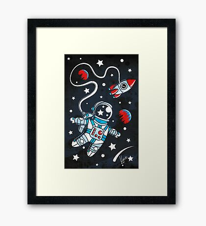Space Walk Framed Print