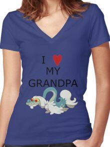 I Love My Grandpa Women's Fitted V-Neck T-Shirt