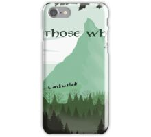 Firewatch Lord of the Rings Tokien Quote Green iPhone Case/Skin