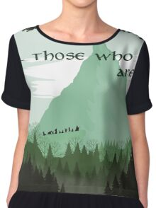 Firewatch Lord of the Rings Tokien Quote Green Chiffon Top
