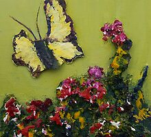 Mini-Butterfly 1 (Mixed media) by Niki Hilsabeck