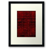 Bloody Datastream Framed Print