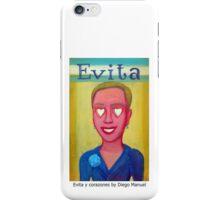 Evita y corazones by Diego Manuel iPhone Case/Skin