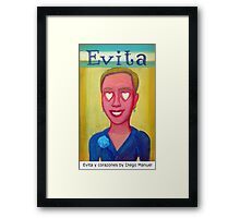 Evita y corazones by Diego Manuel Framed Print