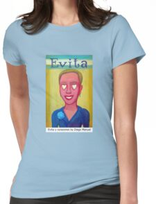 Evita y corazones by Diego Manuel Womens Fitted T-Shirt