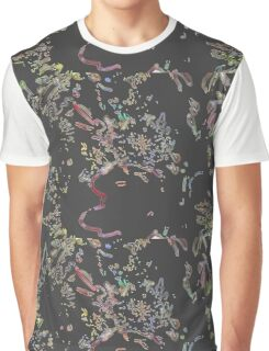 Retro floral pattern in black HFRF01 Graphic T-Shirt