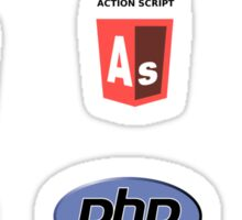 web developer programming language set Sticker
