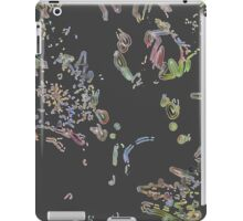 Retro floral pattern in black HFRF01 iPad Case/Skin