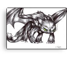 HTTYD - Angry Toothless Canvas Print