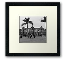 Plaza Mayor de Lima Framed Print