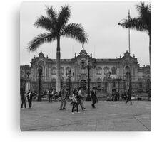 Plaza Mayor de Lima Canvas Print