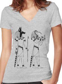 Egyptian Gods Women's Fitted V-Neck T-Shirt