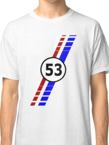 VW 53, the Love Bug's racing stripes and number 53 Classic T-Shirt