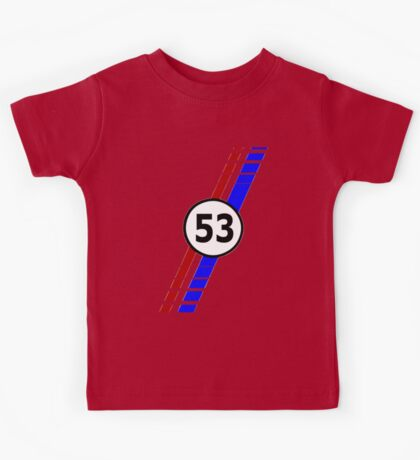 VW 53, the Love Bug's racing stripes and number 53 Kids Tee