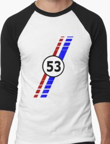 VW 53, the Love Bug's racing stripes and number 53 Men's Baseball ¾ T-Shirt