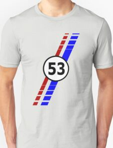 VW 53, the Love Bug's racing stripes and number 53 Unisex T-Shirt