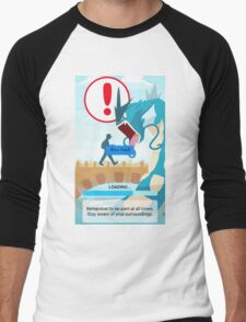 WARNING!!! Men's Baseball ¾ T-Shirt
